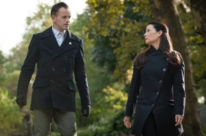Jonny Lee Miller Lucy Liu as Sherlock Holmes Joan Watson in Elementary Season 3 Episode 9 The Eternity Injection