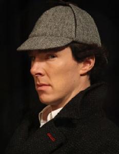 Benedict Cumberbatch deerstalker hat BBC Sherlock Holmes