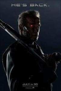 Arnold Schwarzenegger returns as The Terminator in Terminator Genisys 2015 movie poster image wallpaper screensaver t800