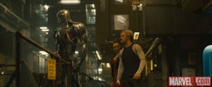 Ultron with Scarlet Witch and Quicksilver in Avengers Age of Ultron